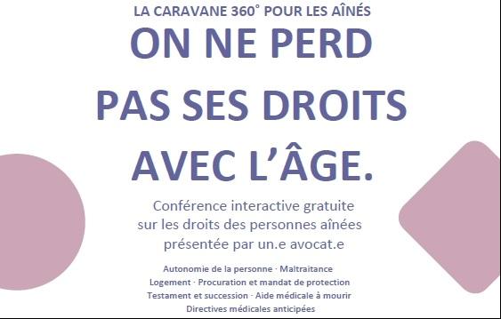 Conférence interactive gratuite sur les droits des aînés